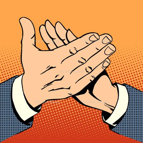 hands applause success bravoの素材 [FYI00784690]