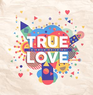 True love quote poster designの写真素材 [FYI00784738]