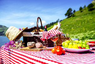 picnic on the grassの写真素材 [FYI00784742]