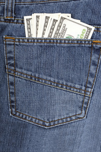 Jeans with American moneyの写真素材 [FYI00784753]