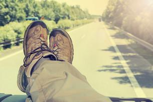 Hitch-hike travelの写真素材 [FYI00784767]