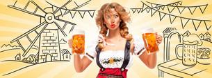 Festive beers.の素材 [FYI00785084]