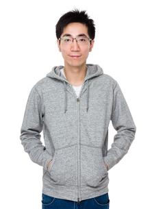 Asian man hand in pocketの写真素材 [FYI00785697]
