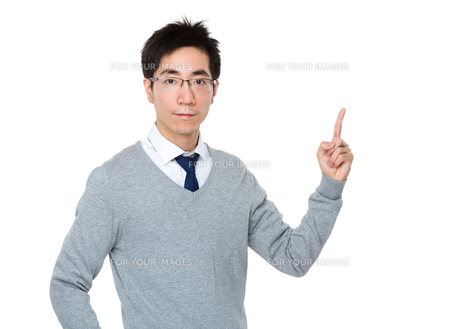 Businessman with finger showing upの素材 [FYI00785708]