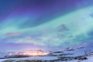 Northern Light Aurora borealis Icelandの写真素材 [FYI00785710]