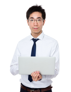 Business man use of notebook computerの写真素材 [FYI00785714]