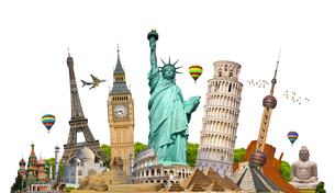Famous monuments of the worldの写真素材 [FYI00786213]