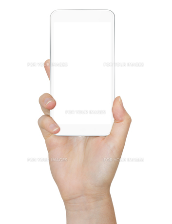 Hand with mobile phoneの写真素材 [FYI00786241]