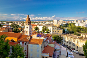 Ancient city of Zadar aerial viewの写真素材 [FYI00786392]