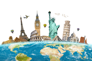 Famous monuments of the worldの写真素材 [FYI00786421]