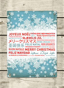 Merry christmas poster from the worldの写真素材 [FYI00786624]