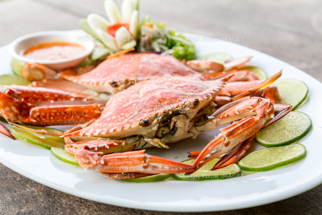 steam crab seafoodの写真素材 [FYI00786645]