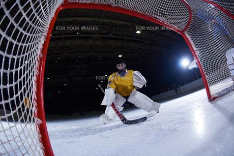 ice hockey goalkeeperの写真素材 [FYI00786954]