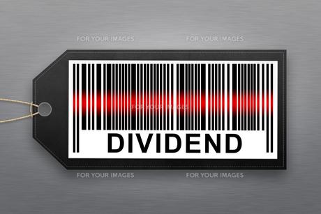 dividend barcodeの写真素材 [FYI00787047]