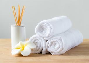 Aromatherapy spa plumeria and towelの素材 [FYI00787079]