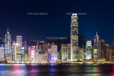 Hong Kong famous night viewの写真素材 [FYI00787099]