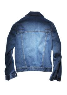 back side of blue jeans jacketの写真素材 [FYI00787137]
