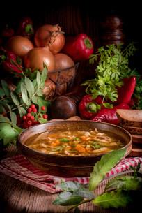 polish beef tripe soupの写真素材 [FYI00787264]