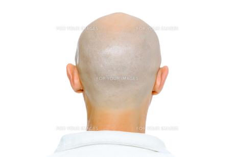 Bald man. Nape. Studio. isolatedの写真素材 [FYI00787625]
