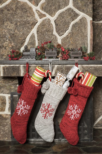 Christmas stockings.の写真素材 [FYI00787676]