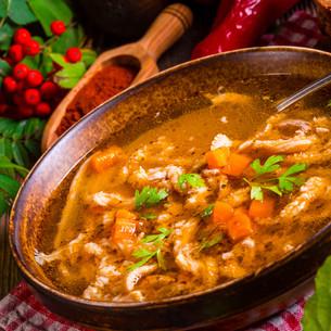 polish beef tripe soupの写真素材 [FYI00787691]