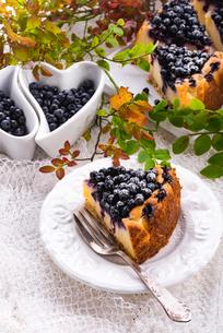 cheesecake blueberriesの写真素材 [FYI00787743]