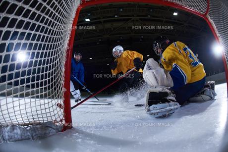 ice hockey goalkeeperの写真素材 [FYI00787784]