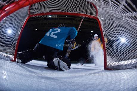 ice hockey goalkeeperの写真素材 [FYI00787785]