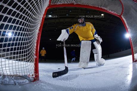 ice hockey goalkeeperの写真素材 [FYI00787786]