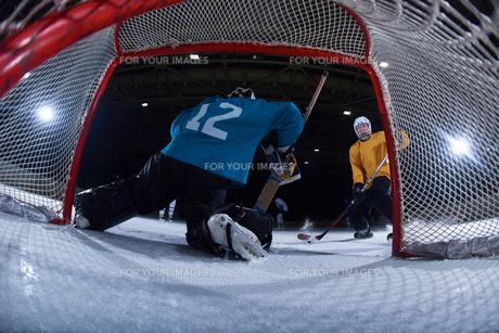 ice hockey goalkeeperの写真素材 [FYI00787795]