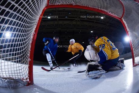 ice hockey goalkeeperの写真素材 [FYI00787841]