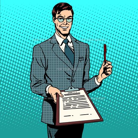signing contract signature documentの写真素材 [FYI00787925]