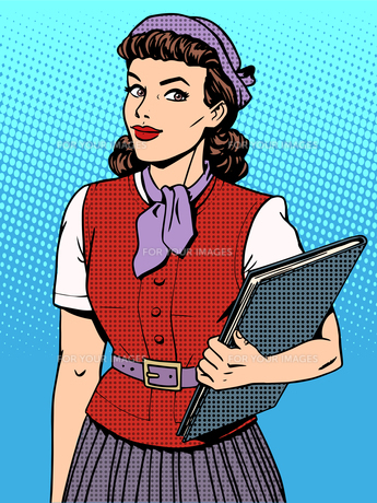 Businesswoman seller consultant hostessの写真素材 [FYI00787954]