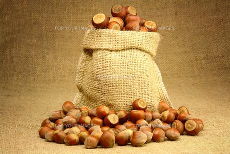 Hazelnuts in Bagの素材 [FYI00788016]