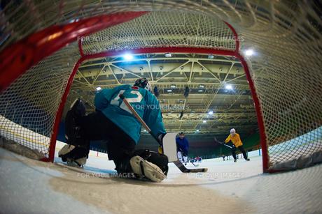 ice hockey goalkeeperの写真素材 [FYI00788073]