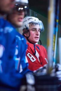ice hockey players on benchの素材 [FYI00788102]