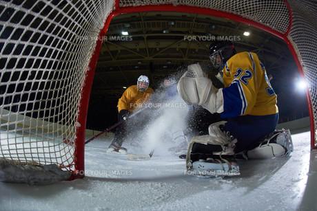 ice hockey goalkeeperの写真素材 [FYI00788198]