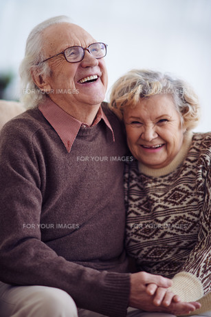 Laughing seniorsの写真素材 [FYI00788270]