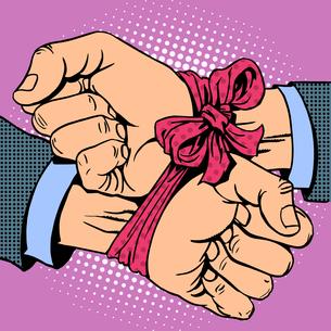 Hand tied ribbonの素材 [FYI00788332]