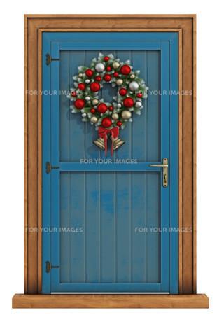 Christmas front doorの写真素材 [FYI00788773]