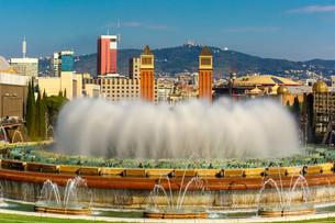 Magic Fountain of Montjuic in Barcelona, Spainの写真素材 [FYI00788838]