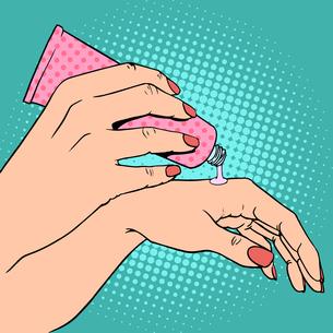 Hand cream cosmetics skin careの写真素材 [FYI00789172]