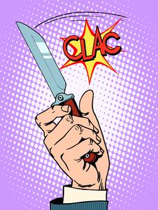 Crime knife arm banditの写真素材 [FYI00789196]