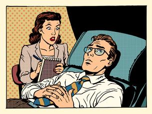 psychologist female patient male sympathyの写真素材 [FYI00789221]