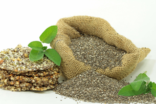 chia seeds,of sage from mexicoの写真素材 [FYI00789230]