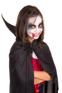 Girl in Halloween vampire costumeの写真素材 [FYI00789248]