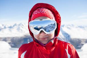 Skier Wearing Ski Glassesの写真素材 [FYI00789553]
