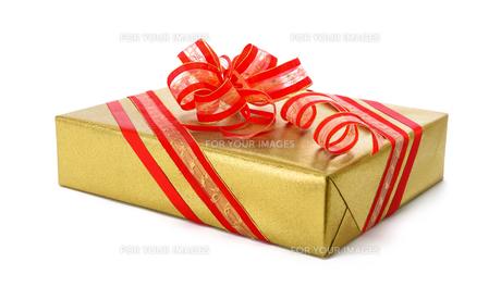 golden gift with clever loopの写真素材 [FYI00789861]