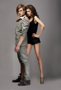 Charismatic Woman and Handsome Man Togetherの写真素材 [FYI00789879]