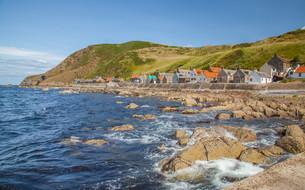 crovie small coastal villageの写真素材 [FYI00789924]